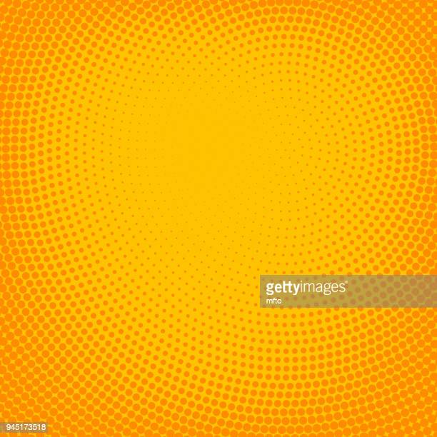 Vibrant halftone spotted background