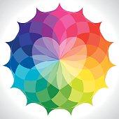 Vibrant Heart Mandala