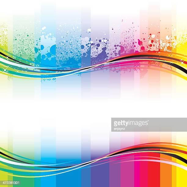 Vibrant rainbow flow designs