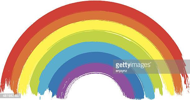 vibrant rainbow - rainbow stock illustrations, clip art, cartoons, & icons
