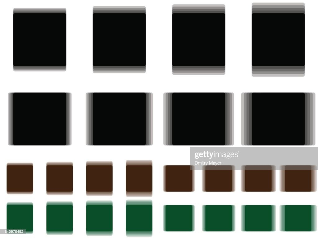 Vibrant square, vibrating black brown green square