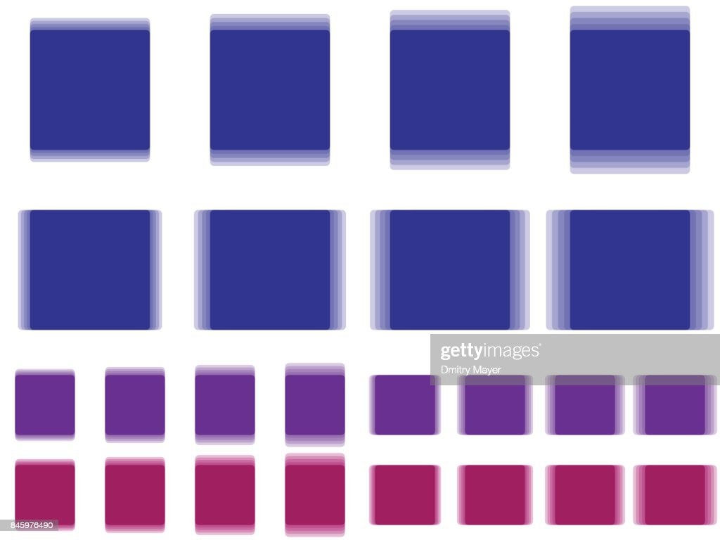 Vibrant square, vibrating blue purple violet square