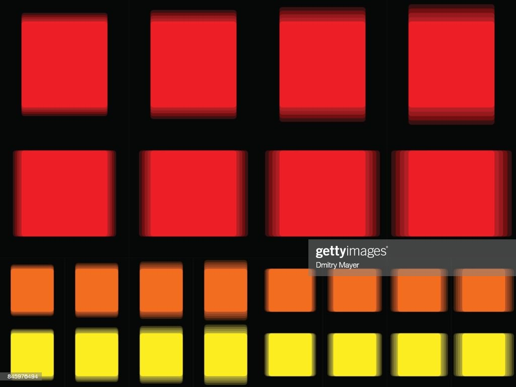 Vibrant square, vibrating red orange yellow square