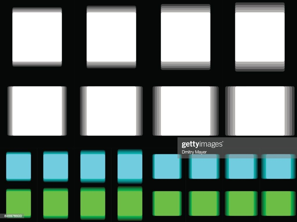 Vibrant square, vibrating white cyan green square