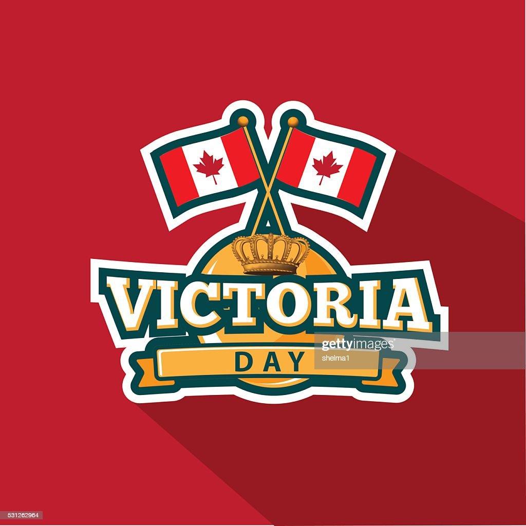 Victoria Day emblem design. EPS 10 vector.