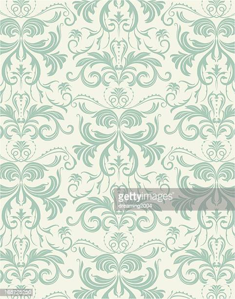 victoria floral pattern - classical stock illustrations