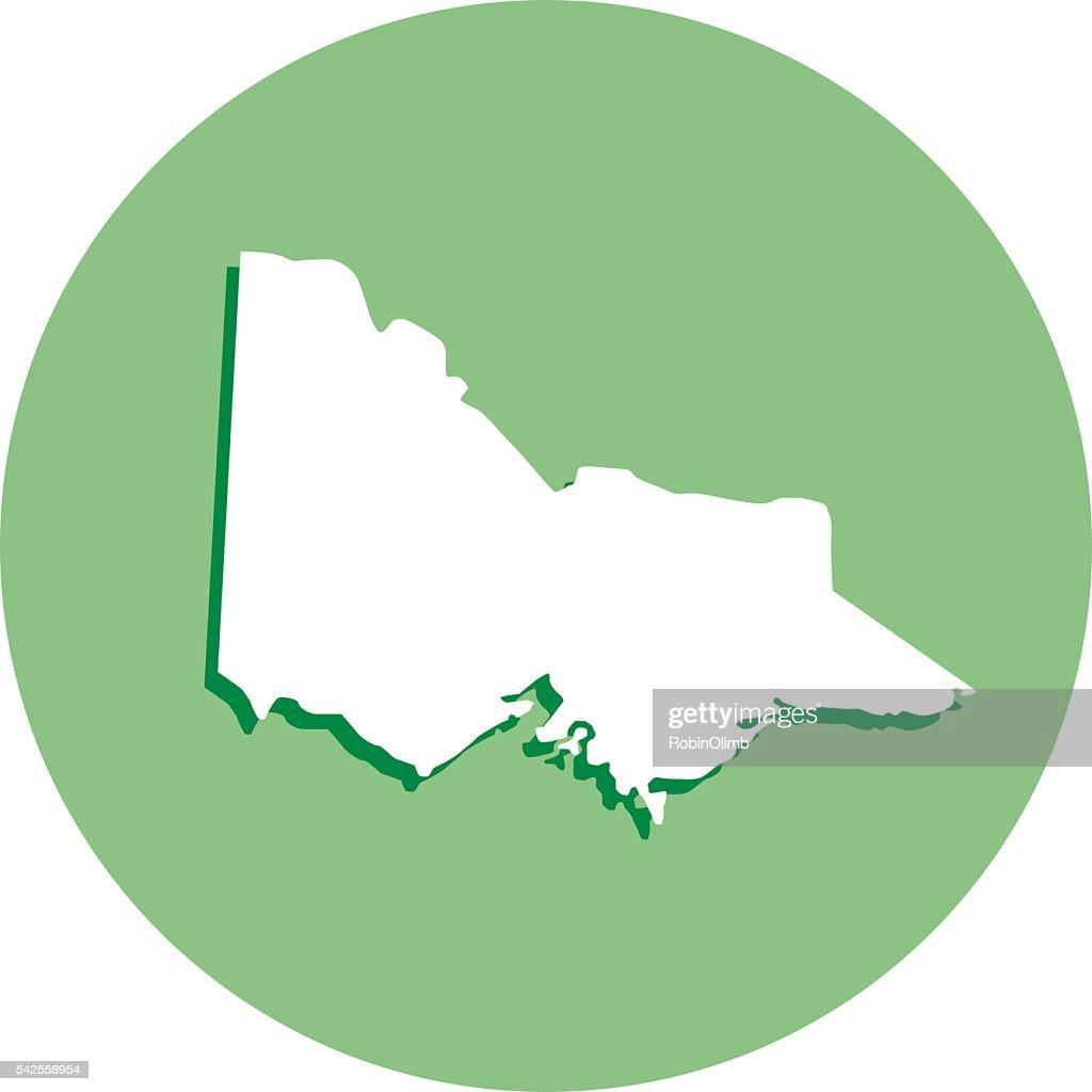 Victoria Round Map Icon