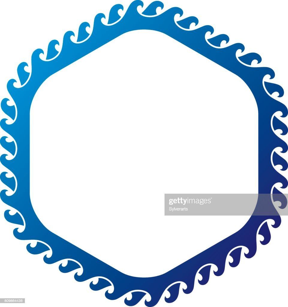 victorian art vector circular frame with blank copy space created