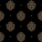 Victorian baroque seamless pattern