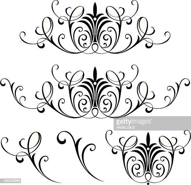 ビクトリア朝のイギリスのスクロール - 西点のイラスト素材/クリップアート素材/マンガ素材/アイコン素材