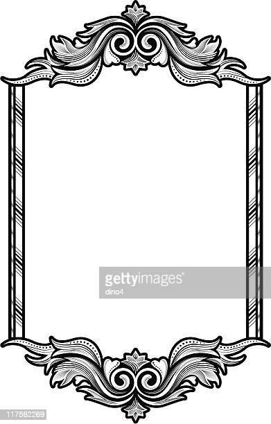 ilustrações, clipart, desenhos animados e ícones de quadro vitoriana - moldura preta