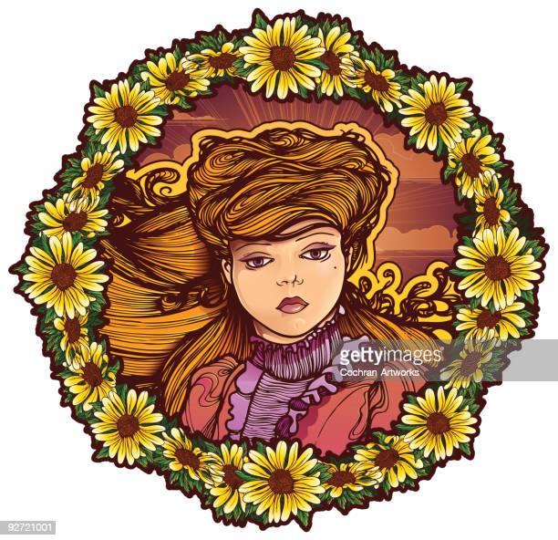 Victorian Mädchen Gänseblümchen-Ring