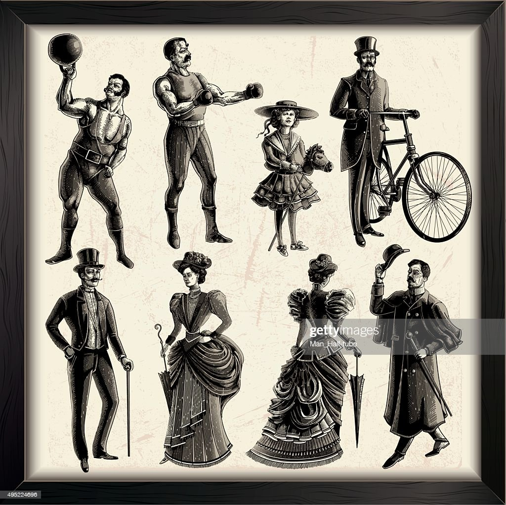 Victorian People : Stock Illustration