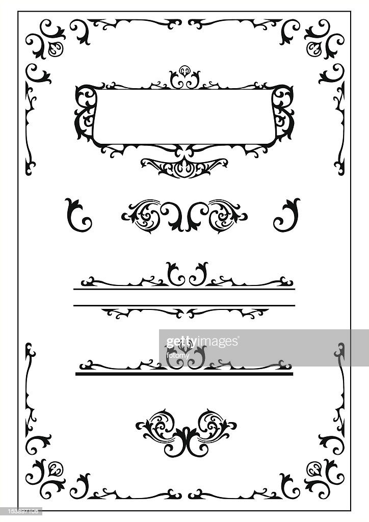 victorian scroll design elements