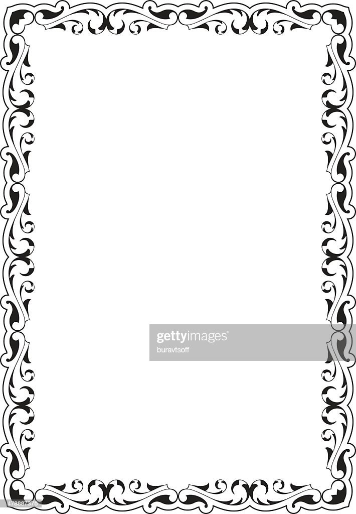 Victorian Scroll Frame Vector Art | Getty Images