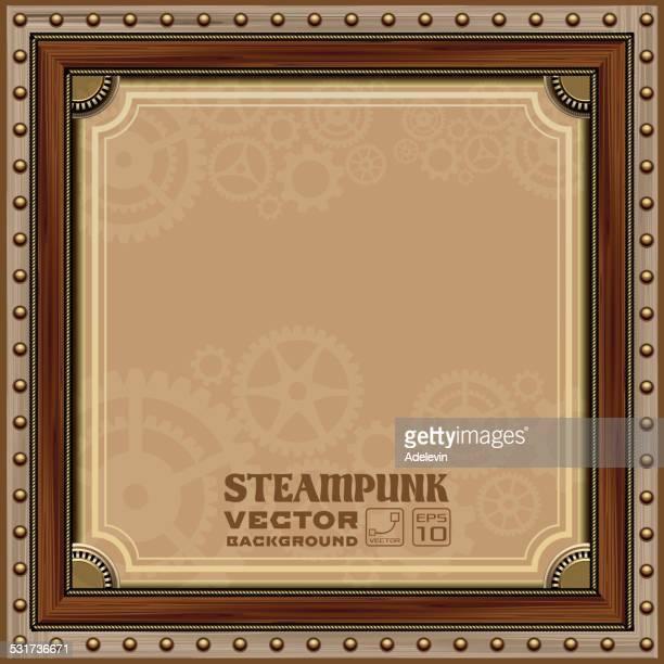 victorian steampunk frame - steampunk stock illustrations
