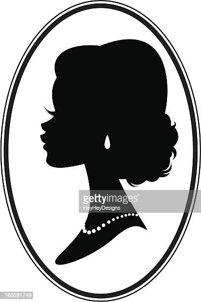 victorian style bride - necklace stock illustrations, clip art, cartoons, & icons