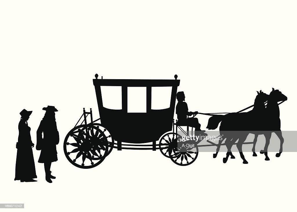 Victorian Vector Silhouette : stock illustration