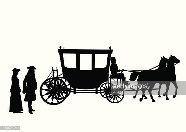 victorian vector silhouette - colonial style stock illustrations