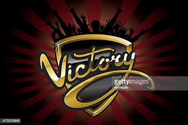 victory emblem with fans - rally car racing stock illustrations, clip art, cartoons, & icons