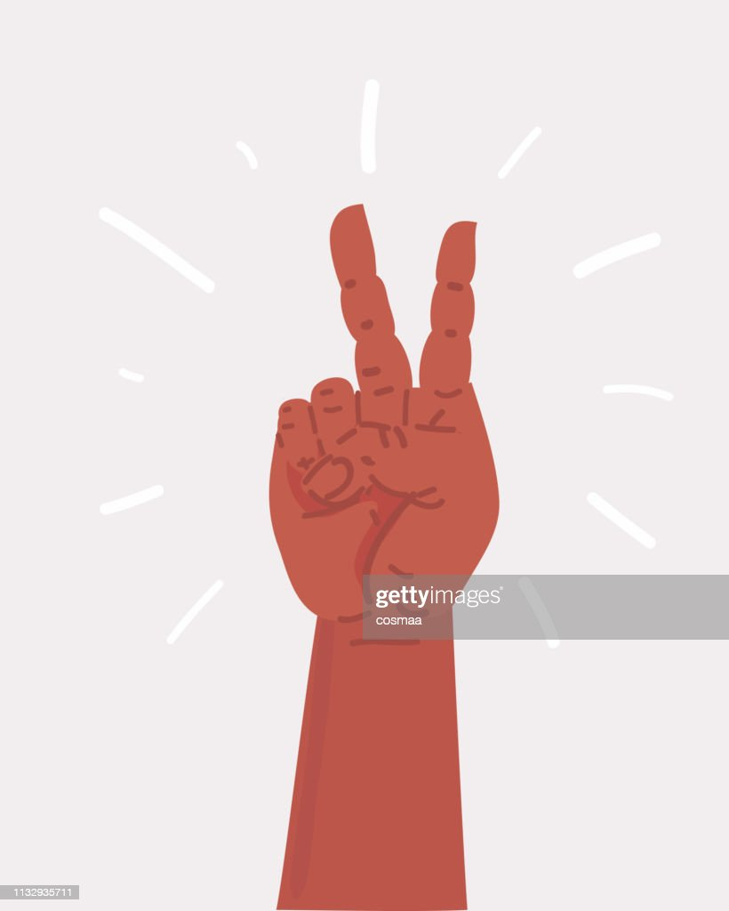 Victory hand sign Hand showing two finger