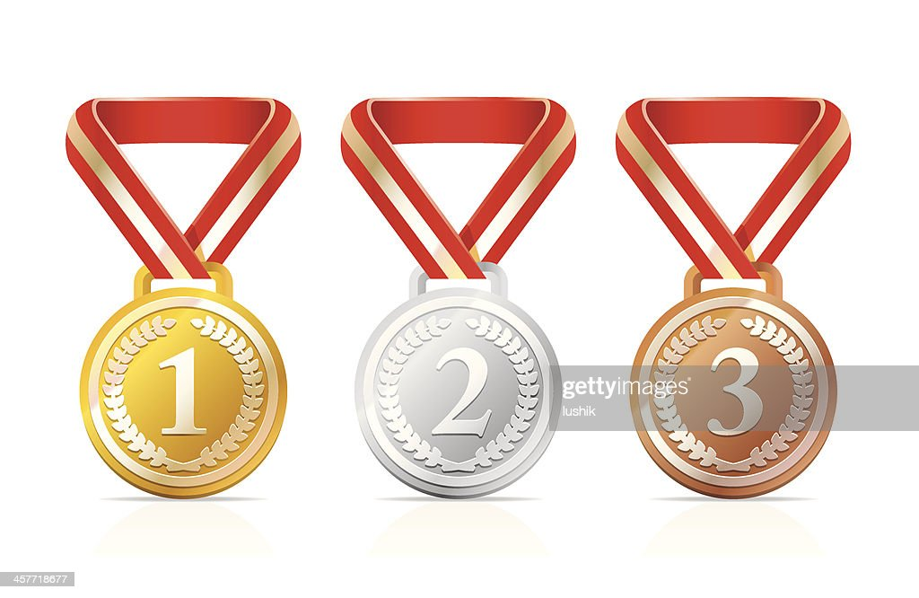 Victory medals : stock illustration