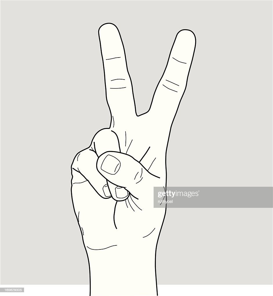 Victory sign/Peace sign : Stock Illustration