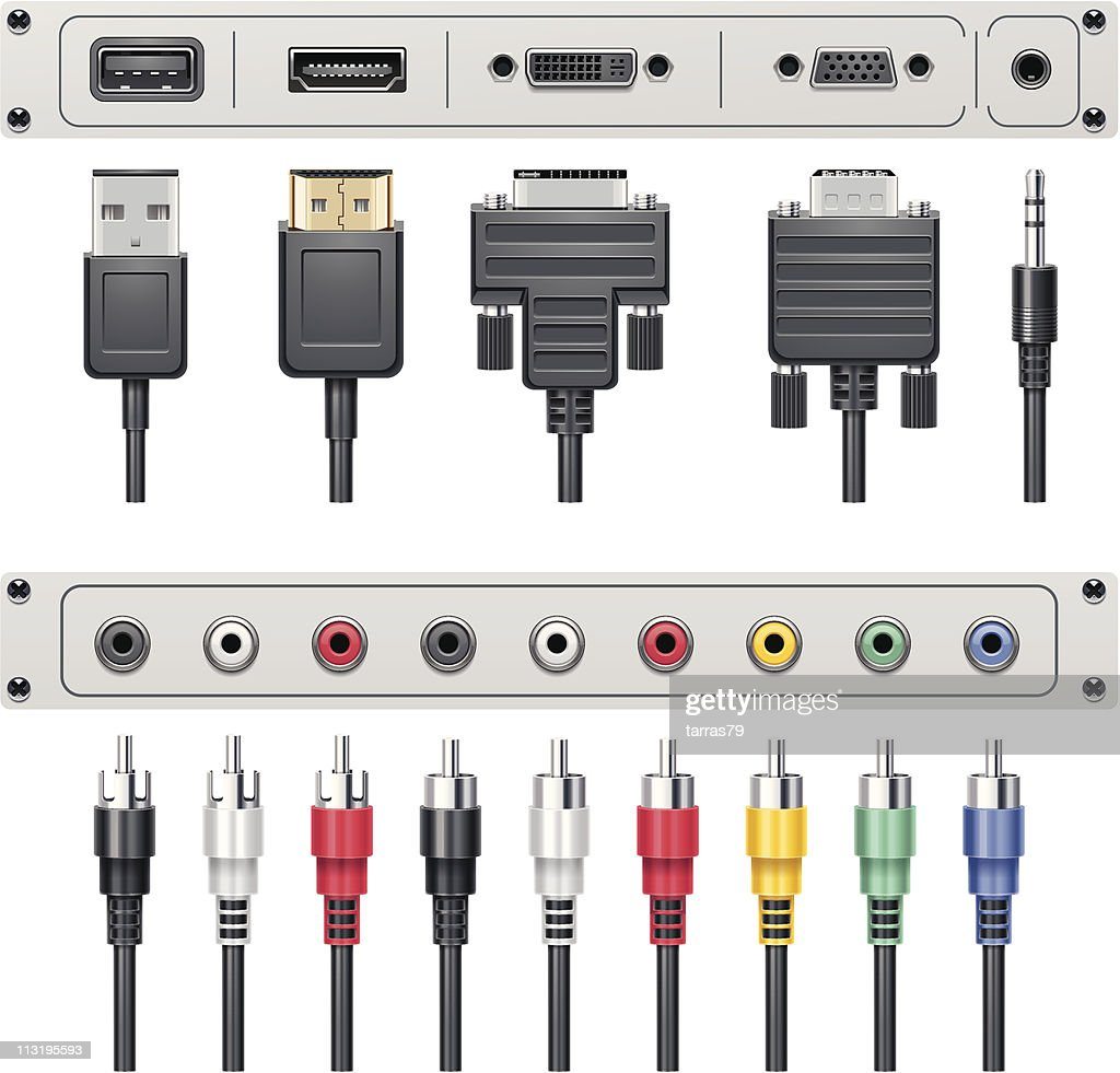 Video and audio connectors