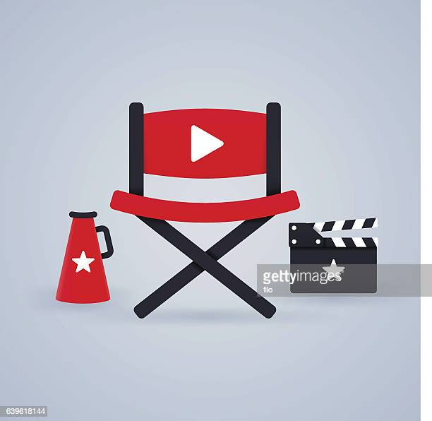 video and movie making - producer stock illustrations, clip art, cartoons, & icons