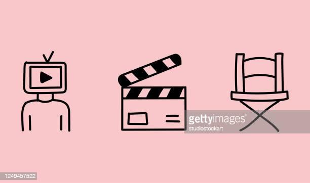 video blogger, vloger - live broadcast stock illustrations