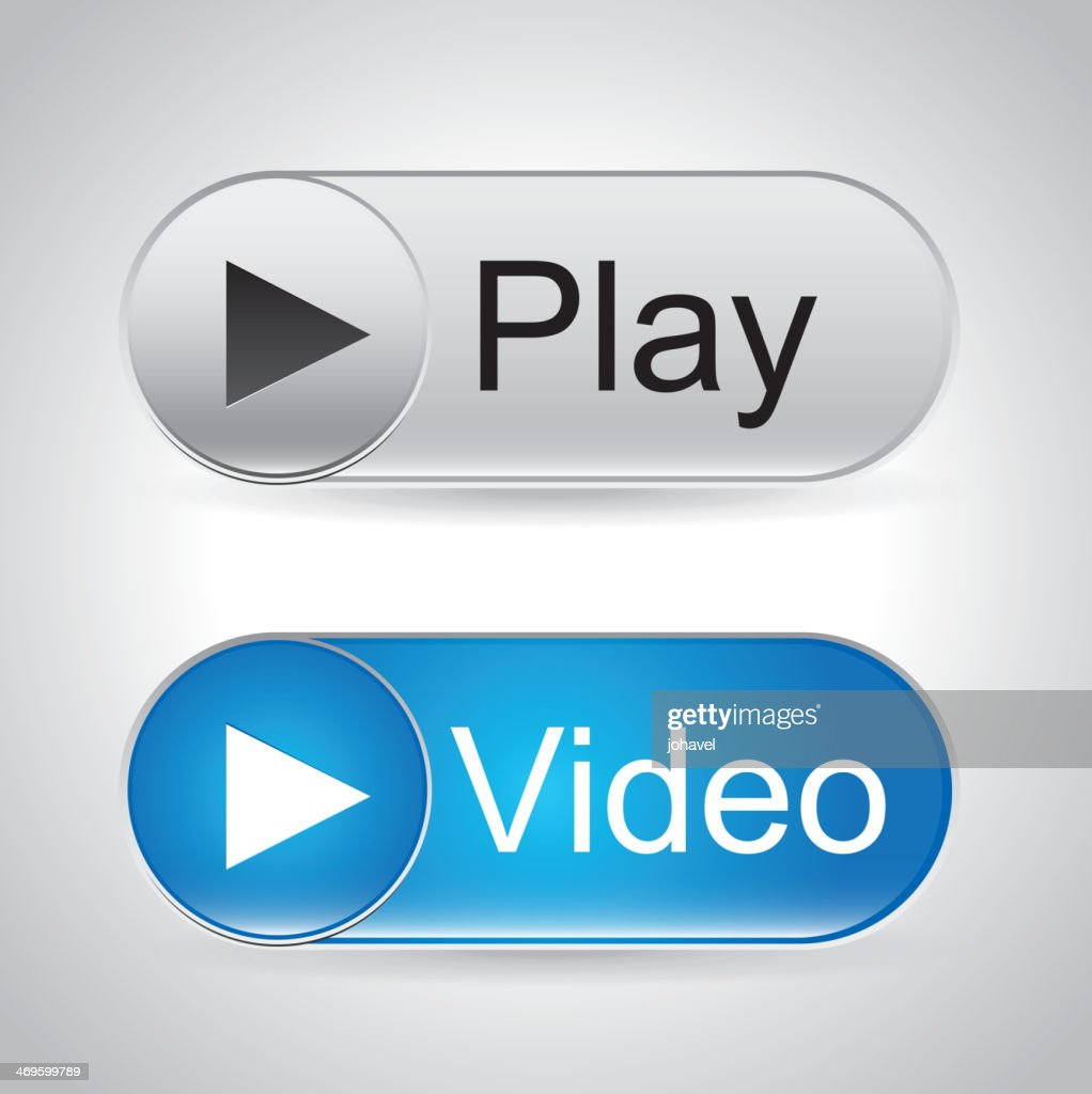 Video button and a play button