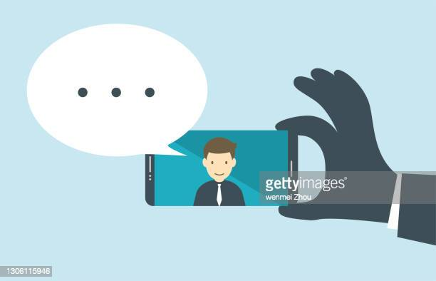 video call - live broadcast stock illustrations