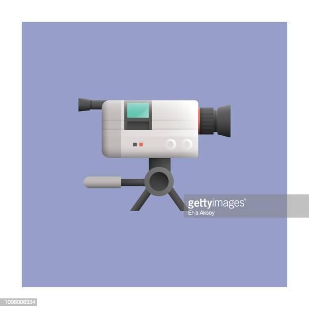 video camera icon - film camera stock illustrations, clip art, cartoons, & icons