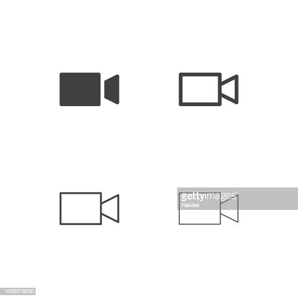 Video Camera Icons - Multi Series