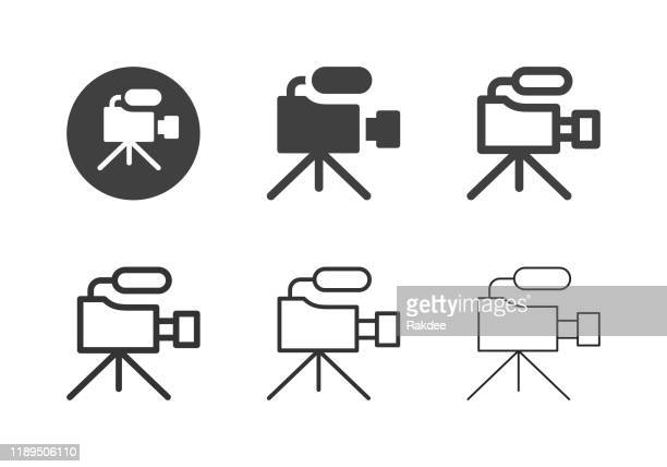 video camera icons - multi series - movie camera stock illustrations