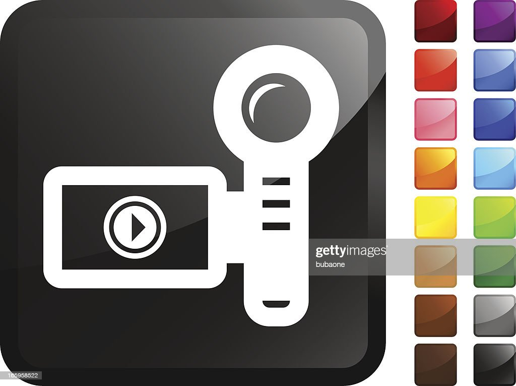 Video Camera royalty free vector icon set stickers : stock illustration