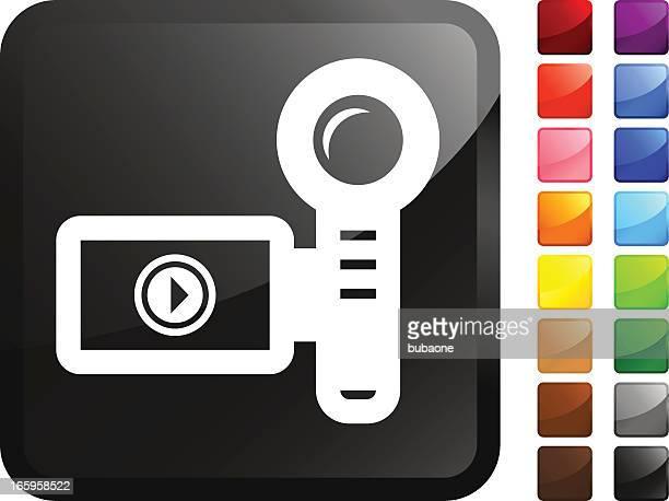video camera royalty free vector icon set stickers - film studio stock illustrations, clip art, cartoons, & icons