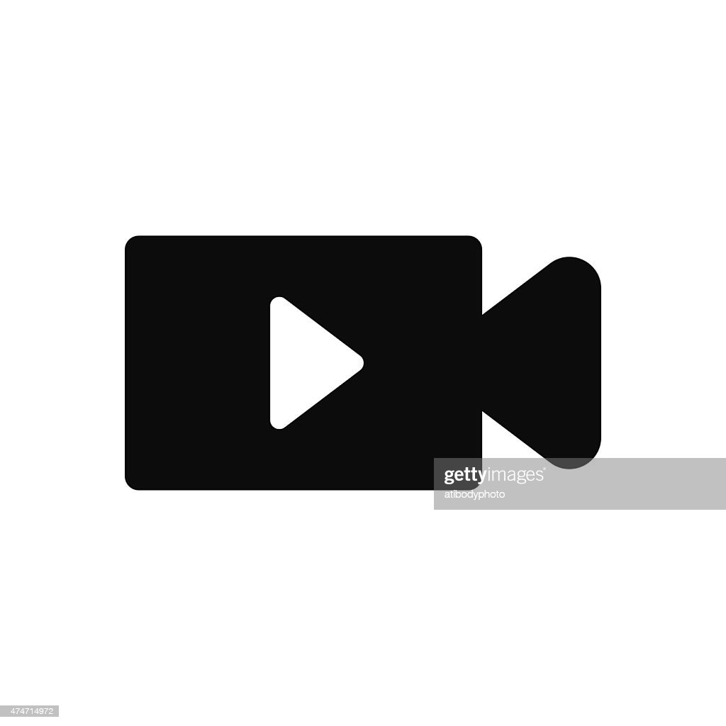 Video Camera with Play Button symbol icon vector illustration ep