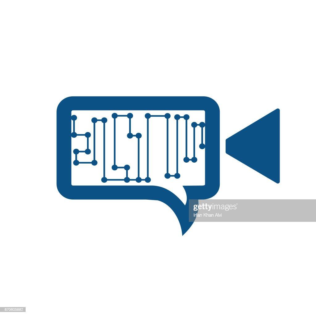 Video Chat Conversation Message Communication Vector Design.