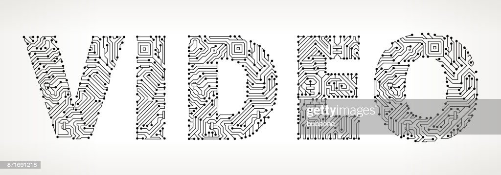 Video Circuit Board Vector Buttons Vector Art | Getty Images
