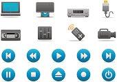 Video Entertainment icons   Premium Matte series
