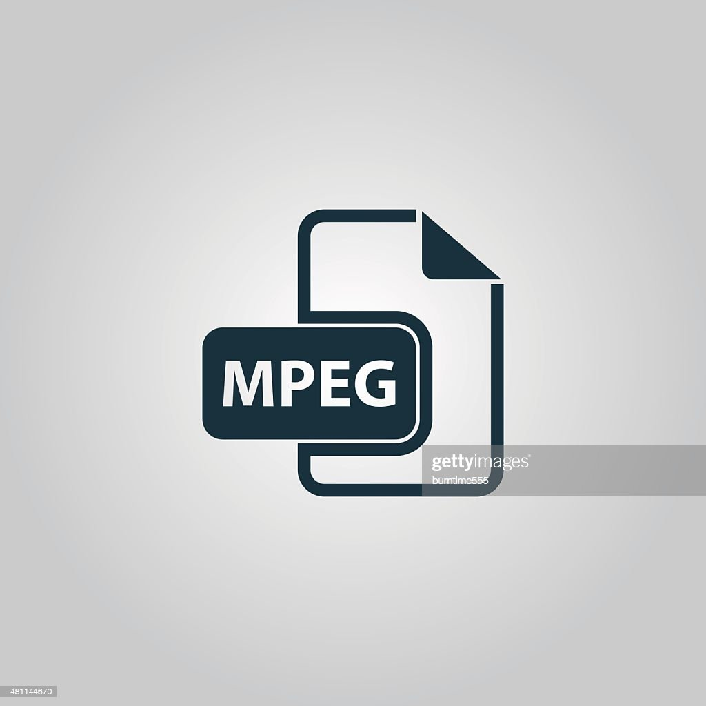 MPEG video file extension icon vector