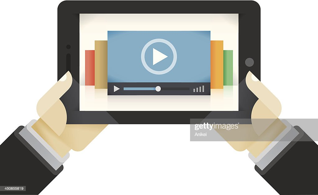 Video films collection on the tablet computer