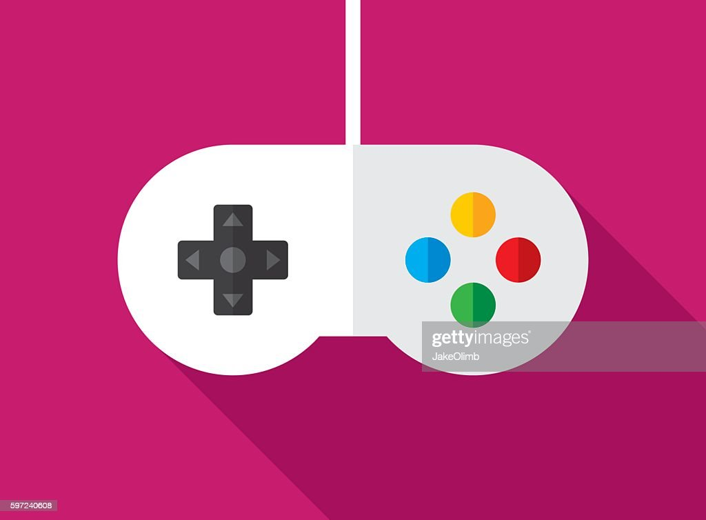 Video Game Controller Icon Flat