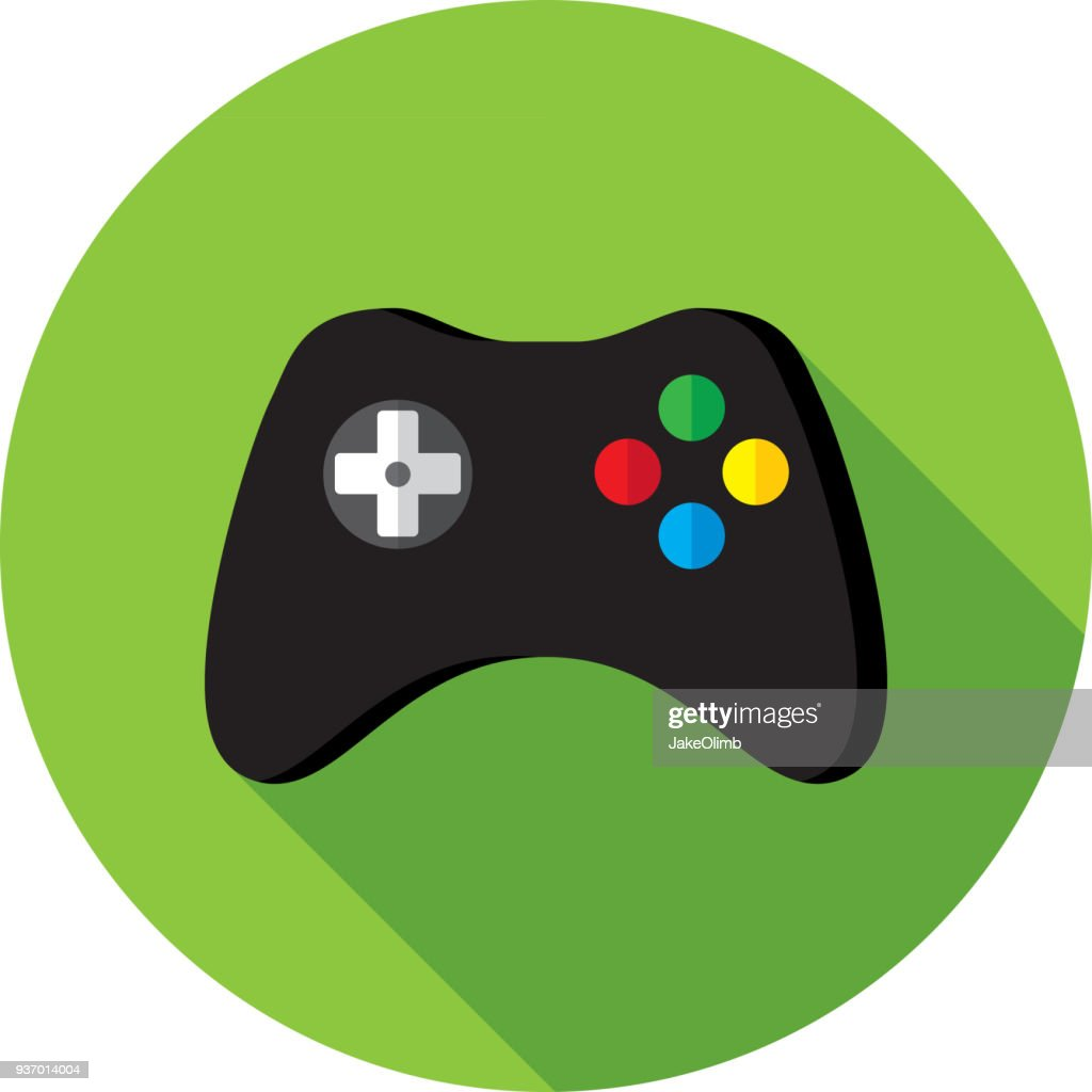 Video Game Controller Icon Flat : stock illustration