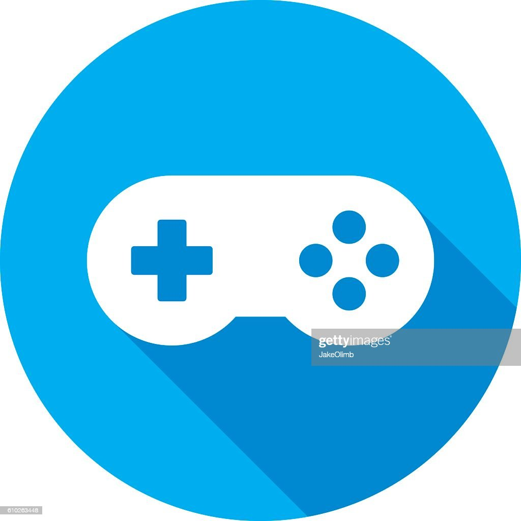 video game controller icon silhouette vector art getty