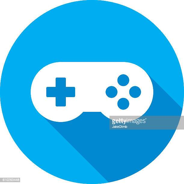 video game controller icon silhouette - joystick stock illustrations, clip art, cartoons, & icons