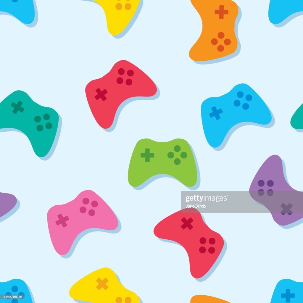 Video Game Controller Pattern Colorful : stock illustration