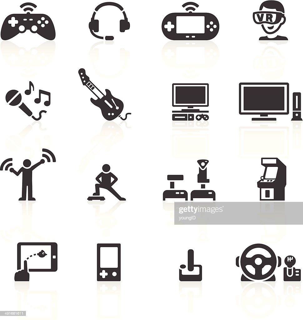 Video Game Hardware Icons : stock illustration