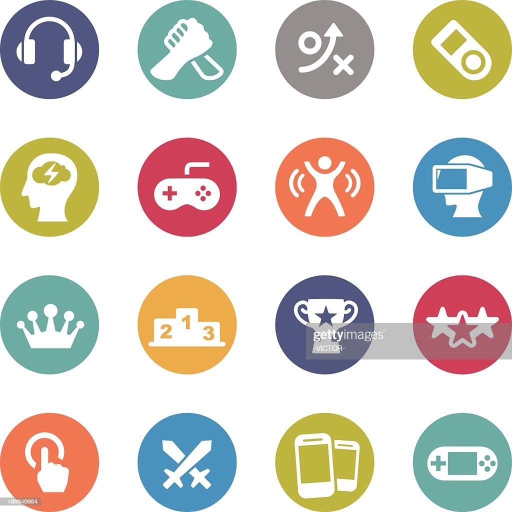 Video Game Icons - Circle Series